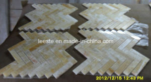High Quality Yellow Herringbone Mosaic Honey Onyx Marble Bathroom pictures & photos