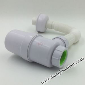 PVC Bottle Trap for Basin Drain and Kitchen Sink Waste pictures & photos