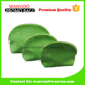 Waterproof Green PU Mirror Cosmetic Bag for Travel pictures & photos