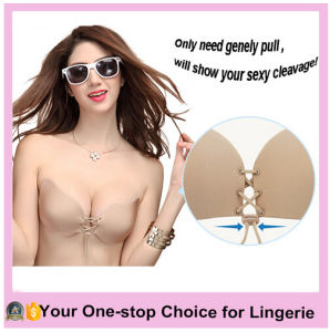 Sexy Adhesive Push up Invisible Silicone Bra (YY001) pictures & photos