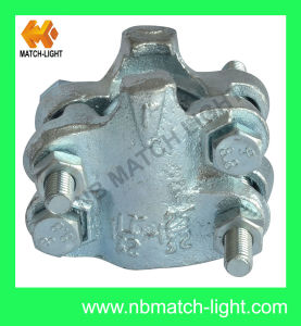 Carbon Steel Zinc Plated 4 Bolts Interlock Clamp pictures & photos