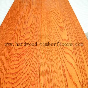 Foshan Supplier Red Solid Oak Hardwood Flooring pictures & photos
