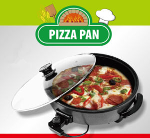 Gfk-40-38 Electric Skillet Healthy Indoor Grill Electrical Frying Pan Pizza Maker Approval CE CB LFGB