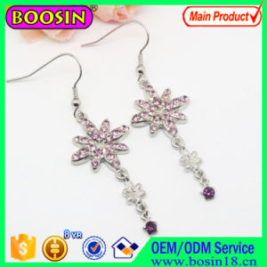 Hollow Round Enamel Moon and Star Fashion Earring #22228 pictures & photos