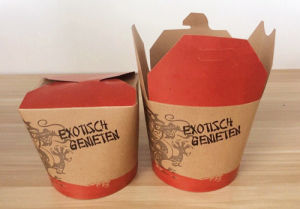 Custom 32oz Food Bucket with 6 Color Printing (YH-L208) pictures & photos