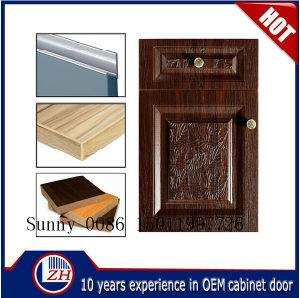 Vinyl Wrap Kitchen Cabinet Door for Shaker Doors Styles (ZHUV) pictures & photos