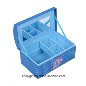 Musical Paper Jewelry Organizer Storage Gift Box with Extra Inner Tray and Mirror pictures & photos
