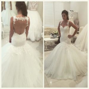 Sexy Wedding Dress Tulle Lace Mermaid Bridal Wedding Gown W1789 pictures & photos