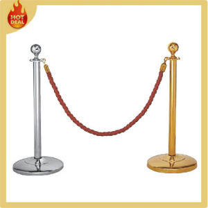 Standing Wholesale Steel Rope Queue Pole pictures & photos