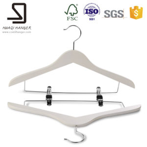 Fashionable Wooden Hanger, Clothes Hanger with Clips pictures & photos