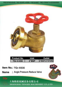 "Pressure Reduce Angle Hydrant Valve: 2""Bsp  -2""Bsp & 2"" Storz (Brass) pictures & photos"