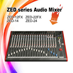 Zed-24 Cheap Price 24 Channels Audio Sound DJ Mixer pictures & photos