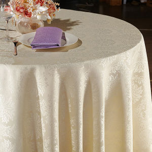 100%Polyester Restaurant Table Cover Jacquard Table Cloth pictures & photos