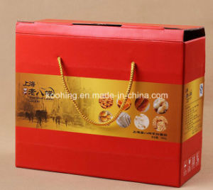 Cute Corrugated Packing/Display Box Basket with Handle for Strawberry pictures & photos