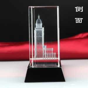 3D Laser Architectural Model Crystal Glass Cube Paperweight pictures & photos