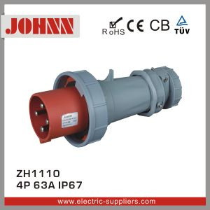IP67 4p 63A Waterproof Plug for Industrial pictures & photos