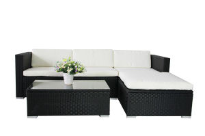 Black Outdoor Rattan Sofa Set Garden Patio Furniture pictures & photos