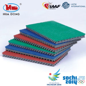 13mm Prefabricated Synthetic Rubber Runway Surfaces for Outdoor Sports Areas pictures & photos