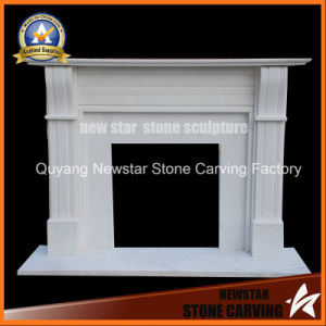 Home Decoration White Marble Fireplace Surround Electric Fireplace Mantel pictures & photos