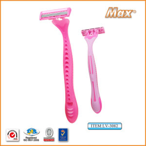 Hot Selling Triple Blade Stainless Steel Blade Disposable Shaving Razor (LV-3086) pictures & photos