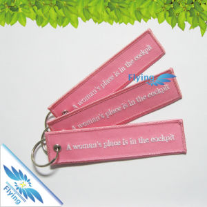Full Color Embroidery Keychain/Key Chain/Key Ring/Badge/Patch
