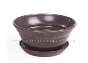 Biodegradable Bamboo Fiber Flower Pot (BC-F1005) pictures & photos
