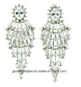 Geometric Earrings Statement Solid 925 Sterling Silver Dangle Chandelier Jewelry Hoop Earrings Women Lady Party Wedding Gift E6299 pictures & photos