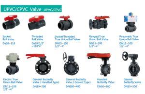 De75 De90 De110 BSPT PVC Threaded Ball Valve pictures & photos