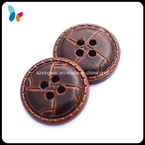 Imitation Leather Painted Plastic 4 Holes Sew on Clothes Button pictures & photos