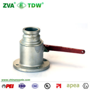 High Quality Discharge Ball Valve with Square Flange pictures & photos