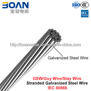 Gsw, Guy Wire, Stay Wire, Zinc-Coated Steel Wire (IEC 60888) pictures & photos