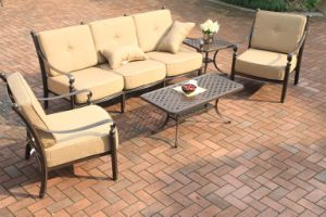 Classic Garden Cast Aluminum Chat Sofa Set Furniture pictures & photos