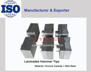 Bi-Metallic Chrome Carbide Shredder Hammer Tips for Sugar Mills 63HRC pictures & photos