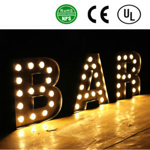 High Quality Standing 3D Ironlighting Letters pictures & photos