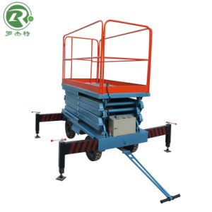 9m Automatic Type Mobile Aerial Scissor Working Lift (SJZ0.48-9)