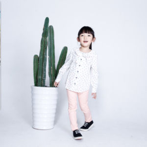 Phoebee 100% Cotton Children′s Apparel Printed Shirt for Girls pictures & photos