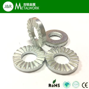 Carbon Steel White Zinc Plated Serrated Gasket Lock Washer Nfe25511 pictures & photos