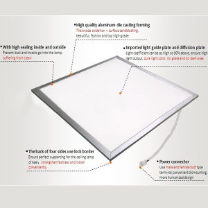 China High Brightness 60cmx60cm LED Panel Light 1200mm X 600mm pictures & photos
