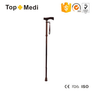 Topmedi Aluminum Foldable Adjustable Height Walking Aid Walking Stick pictures & photos