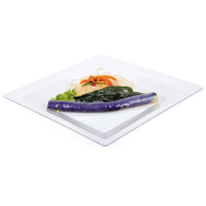 "Plastic Plate Disposable Tray 9""Square Tray pictures & photos"