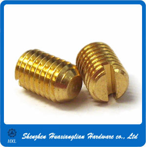 M3 Brass Slotted Grub Screw pictures & photos