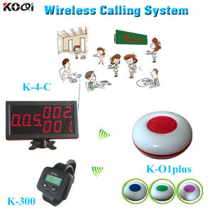 Waiter Caller for Restaurant Hotel Alarm Receiver Equipment K-4-C+Y-650+K-O1plus Guest Pager System pictures & photos