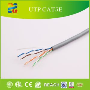 Solid Bare Copper Conductor UTP Cat5e-4p PVC Jacket pictures & photos