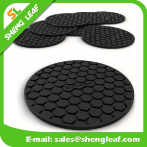 Cheap High Quality Soft Rubber Silicone Coaster (SLF-RC038) pictures & photos