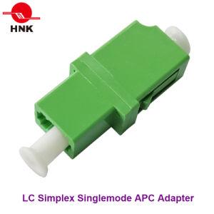 LC Simplex Singlemode APC Standard Plastic Fiber Optic Adapter pictures & photos