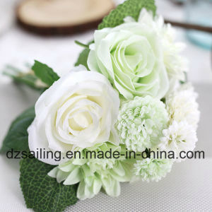 High Quality Artificial Flower of Rose and Dahlia Bouquet (SF15538) pictures & photos