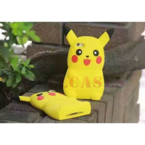 2016 Hot Cartoon 3D Pikachu Silicone Phone Cover/Case for iPhone/Samsung pictures & photos