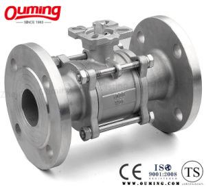Three Pieces Flanged Ball Valve pictures & photos