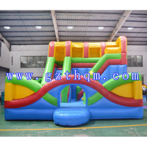 Inflatable Camping Bed Combination Slide / Inflatable Jumping Bounce House pictures & photos