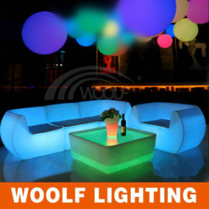 LED Plastic Single Sofa for Outdoor Party pictures & photos